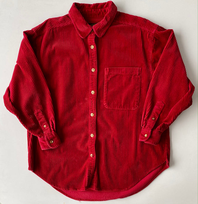 Eddie Bauer red cord shirt small