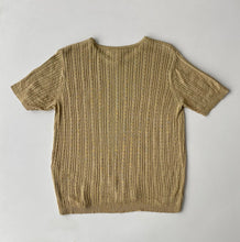Load image into Gallery viewer, Beige Silk Knit Tee
