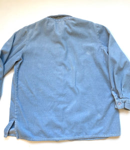 Baby blue wide wale cord shirt