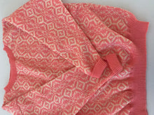 Load image into Gallery viewer, Hand knit pink intarsia wool sweater