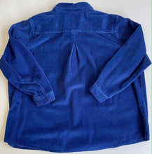 Load image into Gallery viewer, Royal Blue Corduroy shirt jacket-2XL