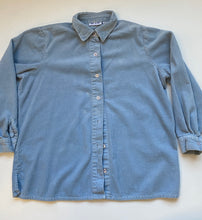 Load image into Gallery viewer, Baby blue wide wale cord shirt