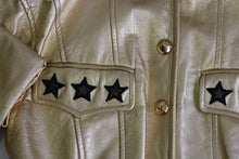 Load image into Gallery viewer, ESCADA gold leather star jacket