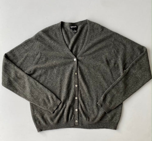 Grey  Cashmere Cardigan L-XL