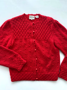 Nordstrom red wool cardigan