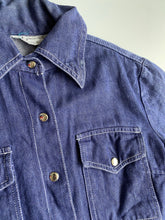 Load image into Gallery viewer, 70s soft denim contrast stitch western style spread collar shirt