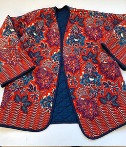 70s quilted cotton and floral  reversible jacket