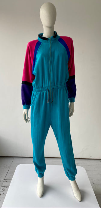80s one-piece Sweatsuit/ Jumpsuit