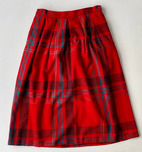 DVF Wool Plaid midi Skirt