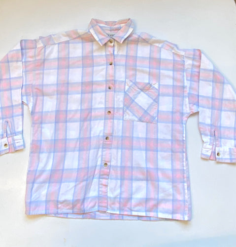 80s Sweet Baby Jane Pastel Plaid Shirt