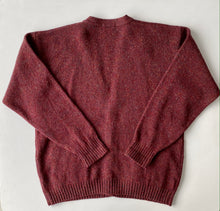 Load image into Gallery viewer, Pendleton Burgundy Speckled Wool Cardigan
