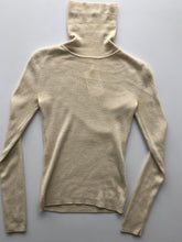 Load image into Gallery viewer, Cream wool turtleneck, as is- small mend