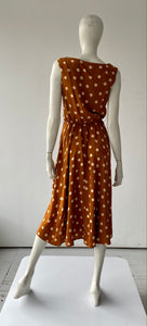 Sienna and Cream Polka Dot Dress