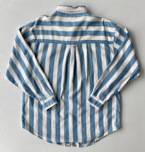 Load image into Gallery viewer, Blue and white stripe denim shirt