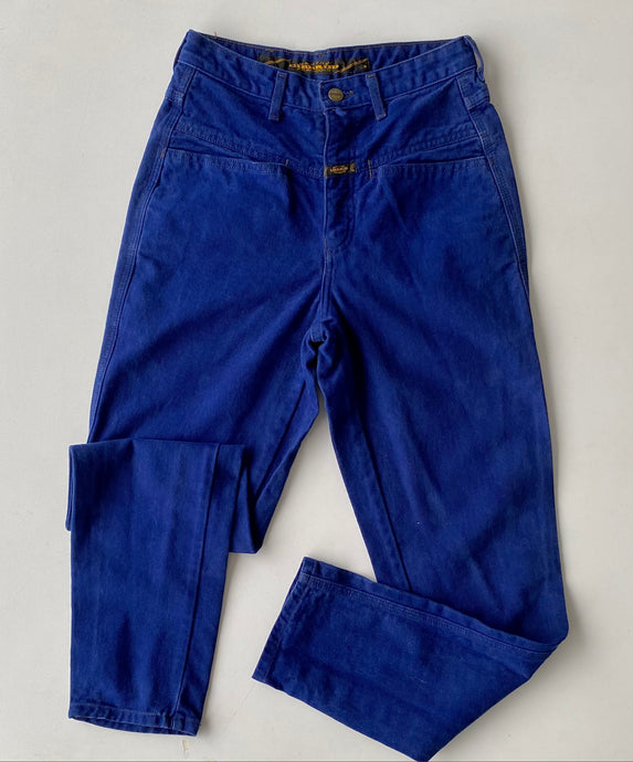 Royal blue utility girbaud jeans