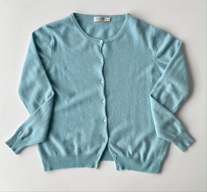 Robins egg blue cashmere cardigan