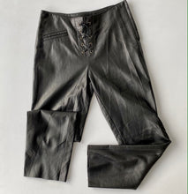 Load image into Gallery viewer, Lace up front leather pants