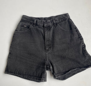 Washed Black Lee Denim Shorts