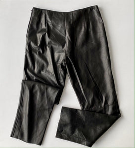 Lace up front leather pants