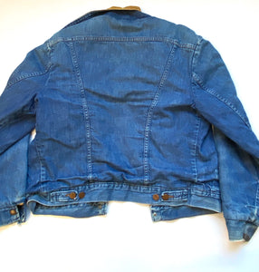 Rare Wrangler fleece lined denim jacket