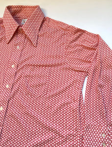 70s poly illusion pattern shirt