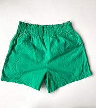 Load image into Gallery viewer, Green cotton paper bag waist 80s shorts L-xL