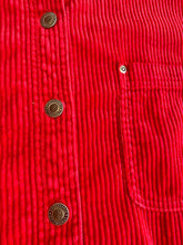 Load image into Gallery viewer, Cherry red cord shirt