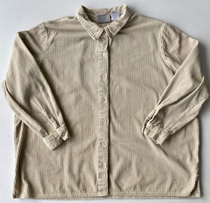 Cream Corduroy  Shirt