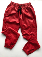 Load image into Gallery viewer, Red pleather joggers