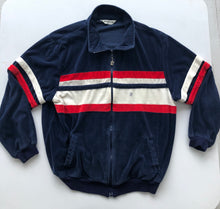 Load image into Gallery viewer, Pierre Cardin striped velour zip up