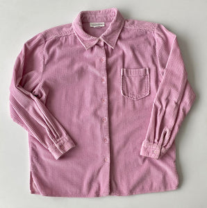 pale pink cord shirt size Large