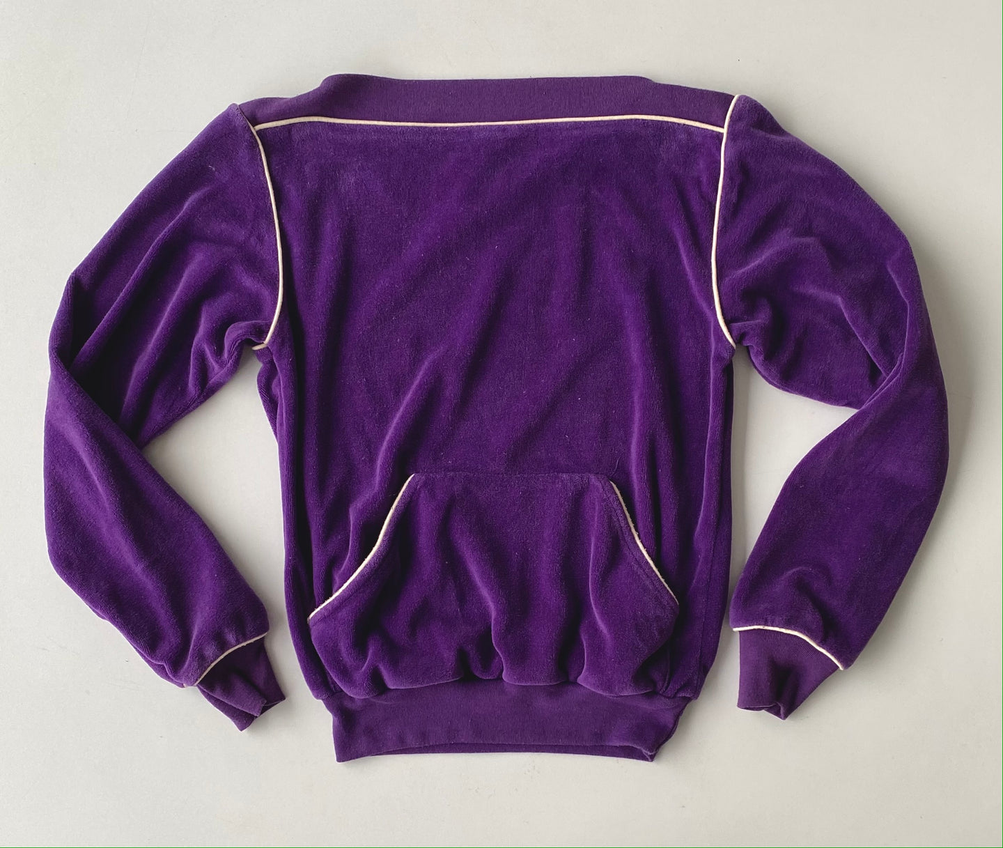 70s Gap purple velour pullover size small