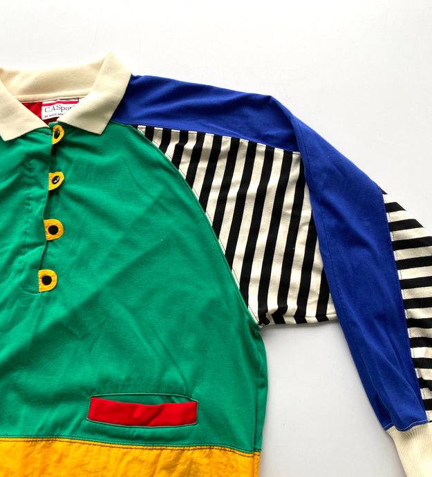 Primary colour block 80s sweatshirt