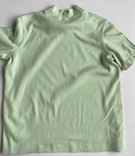 Load image into Gallery viewer, Mint Jersey Mock Neck Tee