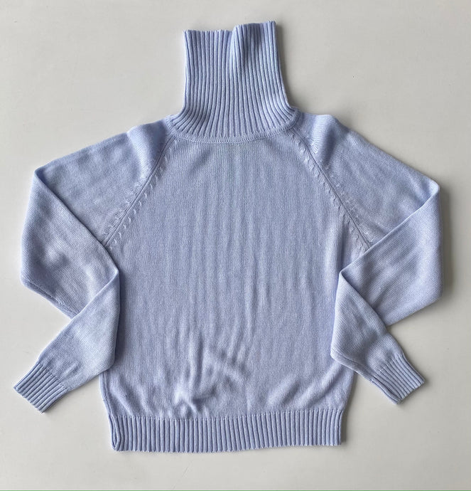 Pale blue cornflower turtleneck