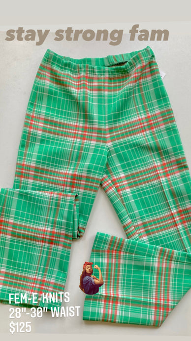 Feminist plaid pants