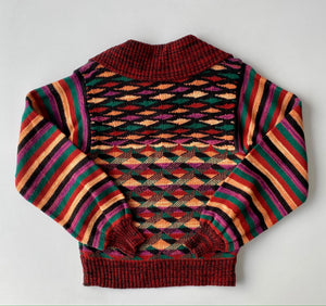 70s collage sweater