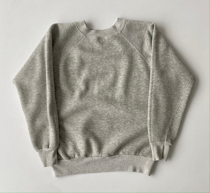 Heather Grey early 80s Raglan sleeve sweatshirt