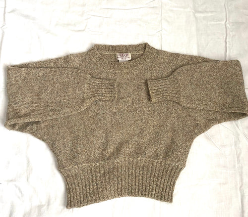 Dolman sleeve 80s wool knit cropped sweater