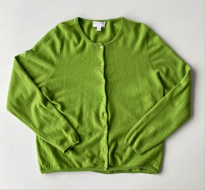 Green Apple Cashmere Cardigan