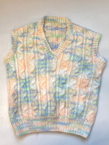 Cotton Candy Handmade Sweater Vest
