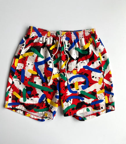 Primary paint swatch drawstring sweat shorts