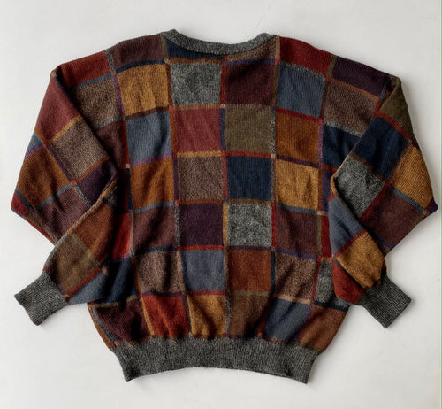 Sak's Fifth Avenue Geometrical Alpaca Sweater