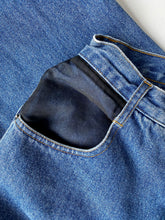 Load image into Gallery viewer, High waisted mid wash denim with Organza Pocket