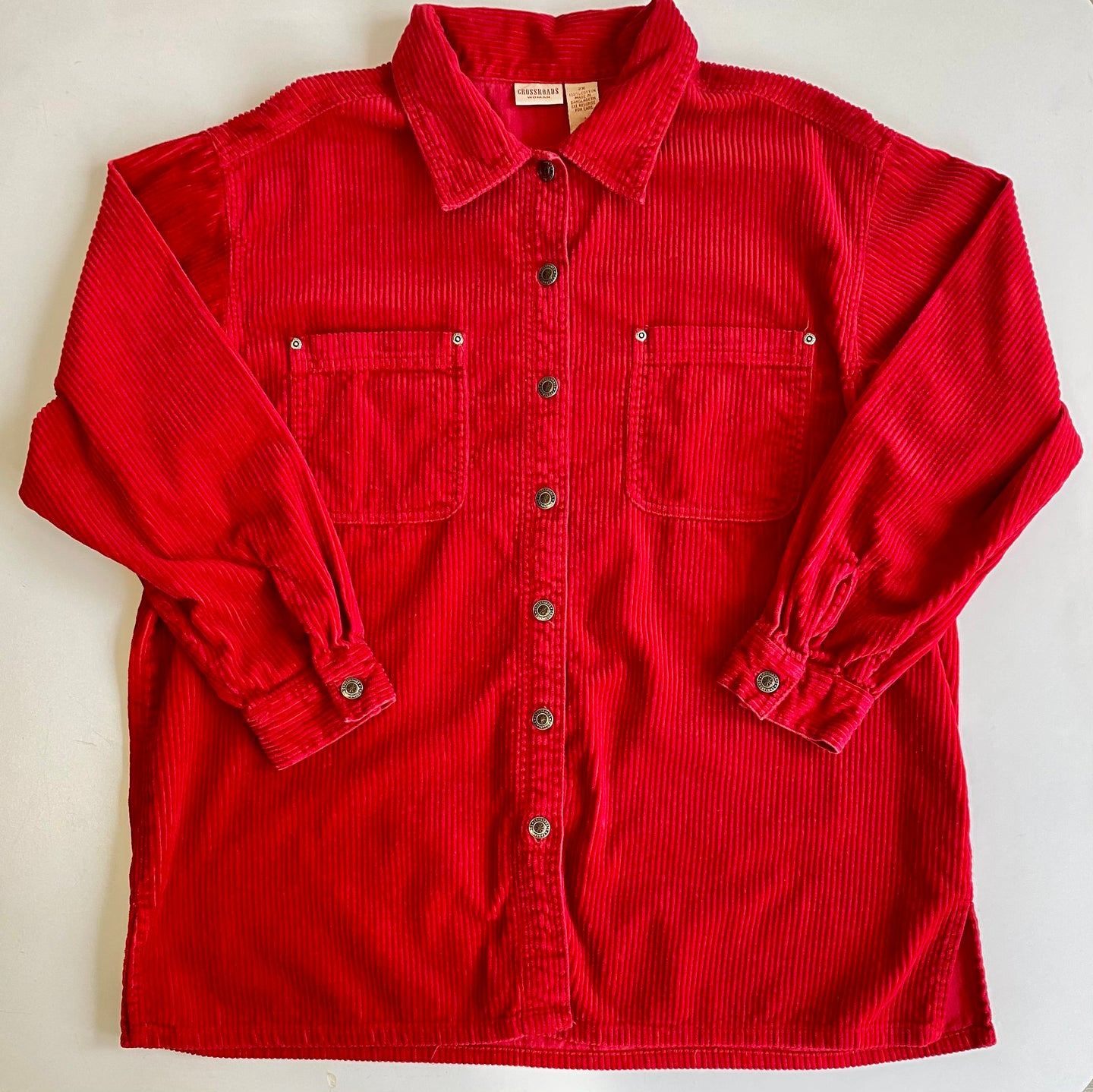 Cherry red cord shirt