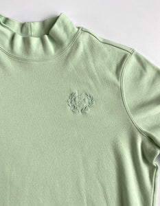 Mint Jersey Mock Neck Tee
