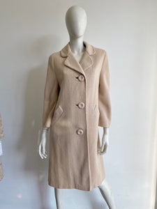 1960s Cream Bouclé Tweed Coat