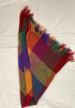 Load image into Gallery viewer, Mohair rainbow bouclé shawl
