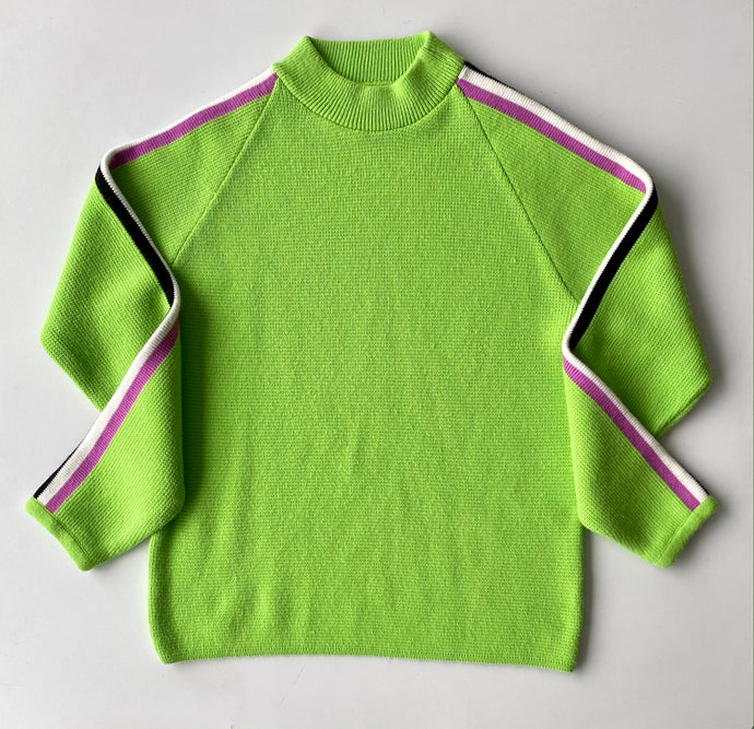 Lime green 70s ski sweater