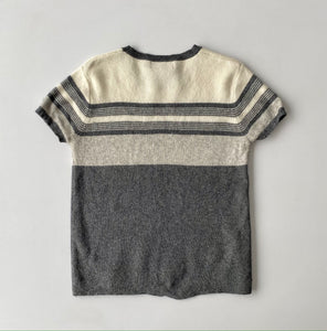 Striped Knit Tee small